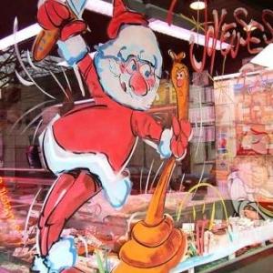 Peinture sur vitrine pour Noel-7340