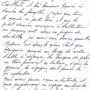 Lettre de Clovis Grandhenry