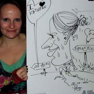 Caricature au Frenchie Restaurant de Luxembourg-7047