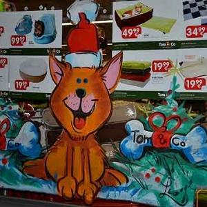 TUBIZE-peinture sur vitrine pour NOEL-2630
