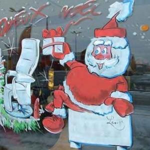 Gembloux - Peinture sur vitrine pour Noel-7439