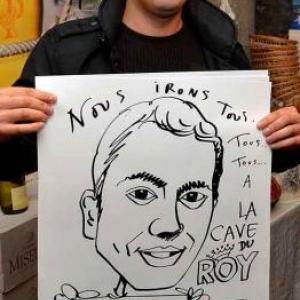 La Cave du Roy-photo 4698-caricature de Jean-Marie Lesage