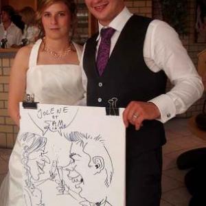 Caricatures du mariage de Jolene et Samuel