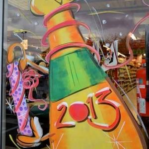 peinture sur vitrine pour NOEL-2468