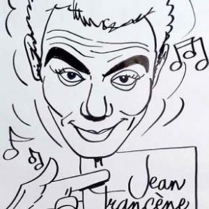 Caricature de Richard Ruben par Jean-Marie Lesage