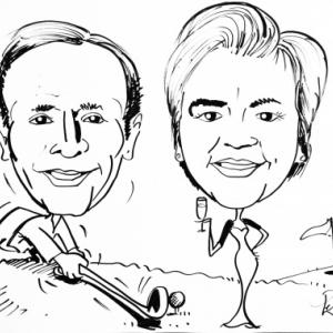 caricature du Golf au champagne