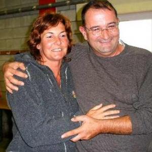 Anne Piron, la gagnante, et Pascal Docquier,  second prix -211-