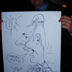 Nivelles : Golf Chateau de la Tournette: soiree des experts CED. Animation caricature