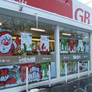 Peinture sur vitrine pour Noel-Liege-7394
