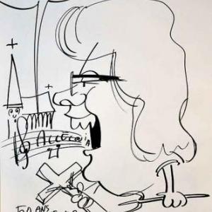 Caricature pour les 50 ans de Anne et Rene-1756