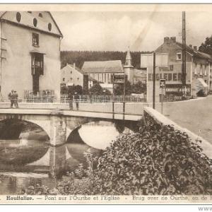 Houffalize - Le pont de la route de Liege (avant l'Offensive)