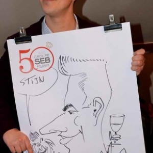 Caricature 50 years groupe SEB Belgium