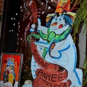 BRUXELLES-peinture sur vitrine pour NOEL-2628