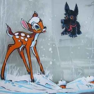 Peinture sur vitrine pour Noel-7552