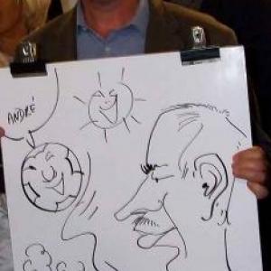 caricaturiste pour la centrale de Tihange