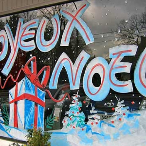 peinture sur vitre NOEL