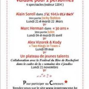 le festival du rire de Rochefort et Jeantrancene