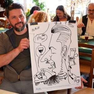 Animation caricature anniversaire JOSE MICHEL