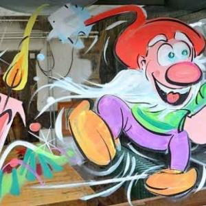 Peinture sur vitre Achouffe