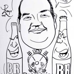 caricature brasserie BR Demarez