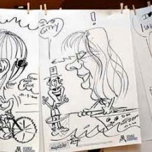 Caricature pour les 50 ans de Anne et Rene-1766