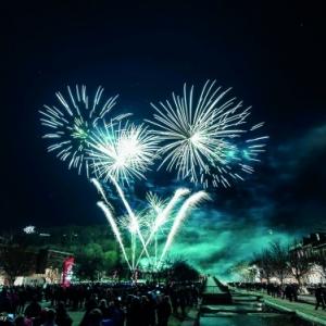 Grand feu d artifice de la Saint Sylvestre de LIEGE