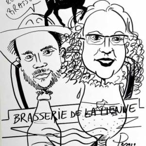 caricature brasserie de la Lienne