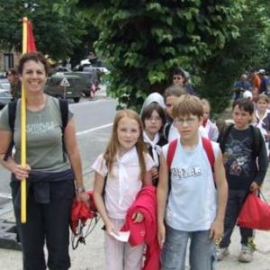 Arrivee de la Marche du Souvenir et de l'amitiee : La Roche