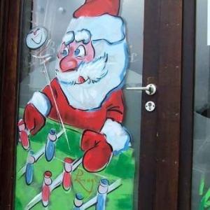 Peinture sur vitrine pour Noel-7333