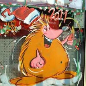 Beaufays - Peinture sur vitrine pour Noel-Liege-7398