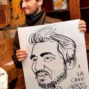 La Cave du Roy-photo 4699-caricature de Jean-Marie Lesage