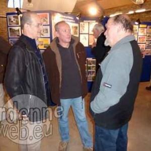 Jean-Marc Schinckus (President de la Soc. des Pecheurs Reunis de Basse-Bodeux Coo Trois-Pont) et deux membres Daniel Lejeune et Jean Gabriel