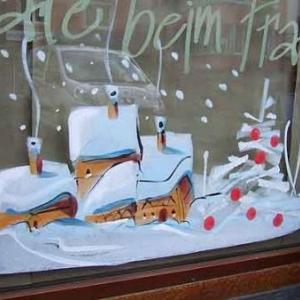 Peinture sur vitrine pour Noel-7369