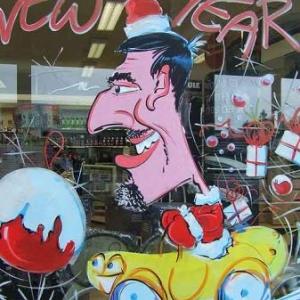 Shape -Mons - Peinture sur vitrine pour Noel - photo 7258