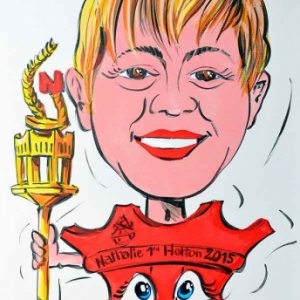 caricature de Nathalie Prince carnaval de Hotton,3121