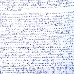 extrait de la lettre d'André Meurisse concernant Patton