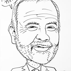 Pierre Mailleu, caricature