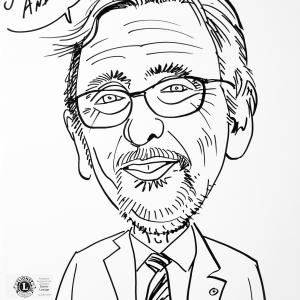 Alain Jordens, caricature