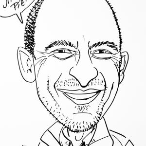 Pierre Jacquet, caricature
