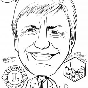 Alain Collin, caricature