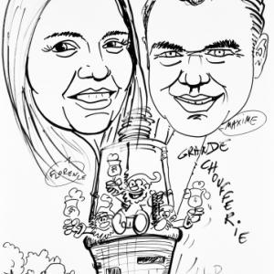 caricature Maxime et Florence pour la Grande Choufferie 2019
