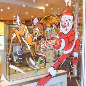 Overijse -Peinture sur vitrine pour Noel-7444