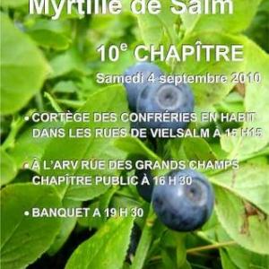 10e anniversaire de la Confrérie de la Myrtille de Salm