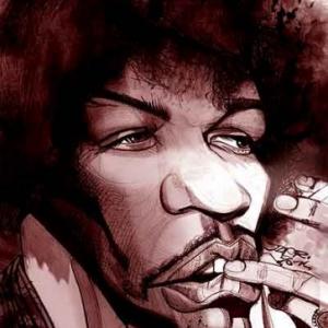 Jimi Hendrix caricature de Christian Jacot