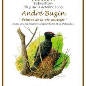 Timbre pic noir avec Natagora Ardenne centrale et André Buzin