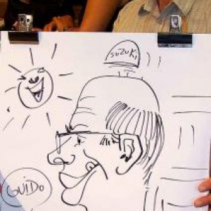 Karikaturen Pot interieur Axel-8309