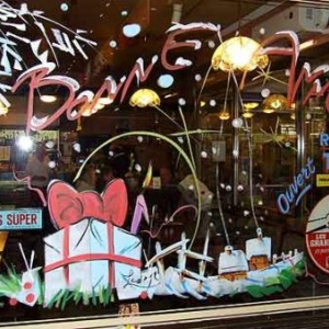 Liege -  Peinture sur vitrine pour Noel-7403