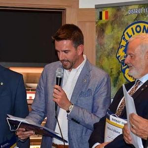 Les 3 nouveaux membres, Lions Club Ciney Condroz