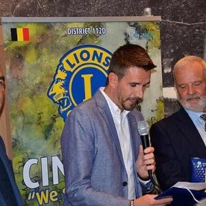 Les 3 nouveaux membres du Lions Club Ciney Condroz