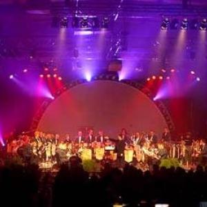 Musique et jeux lumineux lors de ce magnifique concert